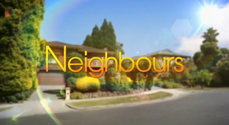 "The slick ""Neighbours"" title card!"
