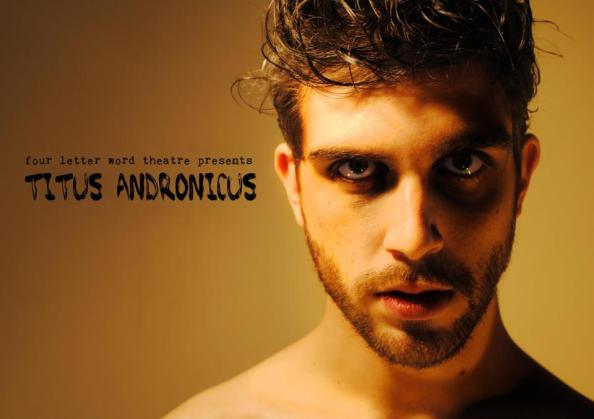 Dylan Morgan as the rather put-upon Titus Andronicus.