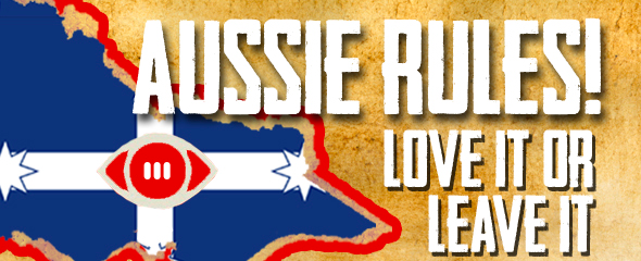 """Blank Slate's """"Aussie Rules"""", Guild Theatre, 14 - 18 May @ 7:30 pm."""